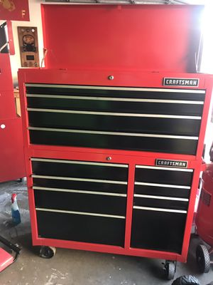craftsman 41 inch box top and bottom / wrench racks included for Sale in West Covina, CA