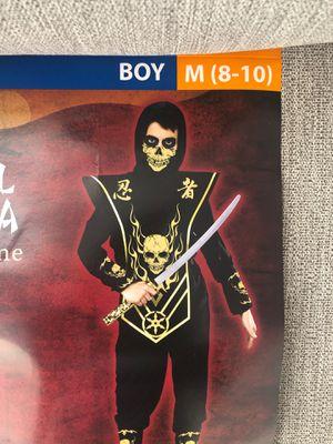 Skull ninja costume boys M 8-10 for Sale in Irwindale, CA