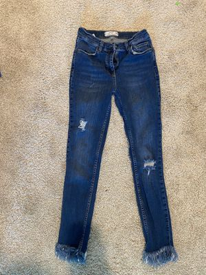 Free People Fringe Bottom Jeans for Sale in Durham, NC