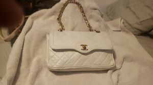 Vintage Chanel white double flap bag for Sale in Los Angeles, CA