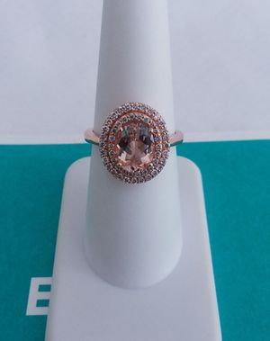 EFFY brand 1.70 carat morganite and diamond ring 14k rose gold retail $1900 my price only $1100! Local pickup or I SHIP through OfferUp for Sale in Comstock Park, MI