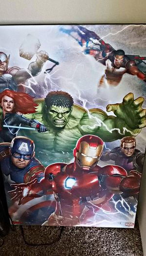 Big Marvel Avengers painting for Sale in Kennewick, WA