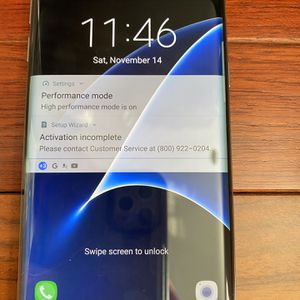 SAMSUNG GALAXY S7 EDGE BLK AS IS CELL PHONE for Sale in Trumbull, CT