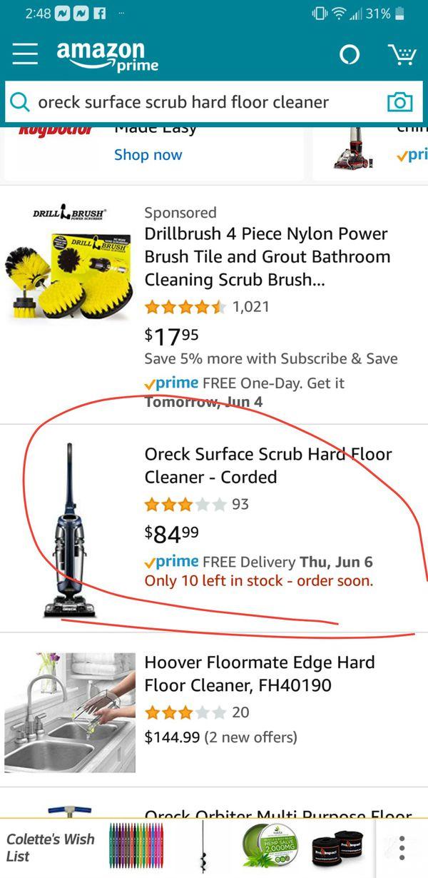 Floor Scrubber Oreck $50