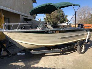 1975 Aluminum boat Starcraft 16ft Super sport for Sale in Stockton, CA