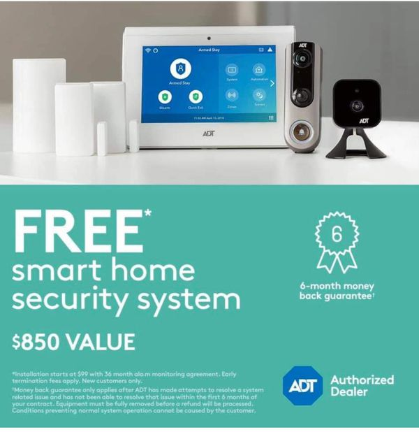 ADT Smart Security-Free doorbell camera