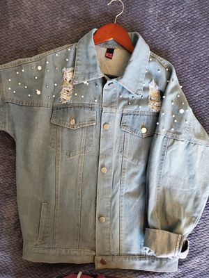 Pearl Jean Jacket with unicorn on the back for Sale in Los Angeles, CA