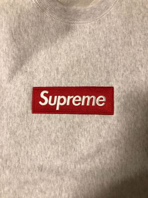 Supreme box logo crewneck grey for Sale in Pittsburgh, PA
