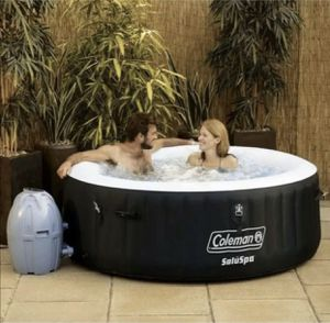"""Coleman Saluspa 71"""" x 26"""" Havana AirJet Inflatable Hot Tub with Remote Control, 2-4 person for Sale in Sandy Spring, MD"""