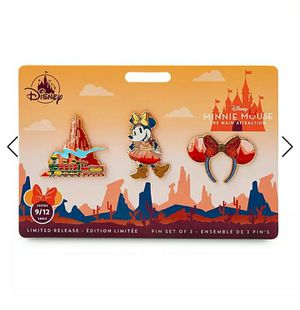Disney Minnie Mouse: The Main Attraction Pin Set – Big Thunder Mountain Railroad – Limited Release for Sale in San Mateo, CA