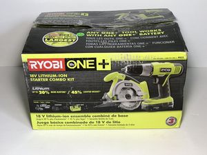 RYOBI 18-Volt ONE+ Lithium-Ion 2-Tool Combo Kit with Drill, Circular Saw, 1.3 Ah Battery, Dual Chemistry Charger, and Tool Bag for Sale in Phoenix, AZ