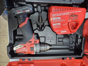 Milwaukee Fuel 12v hammer drill with 3.0 battery and charger in hard case 90$ for Sale in Fort Worth, TX
