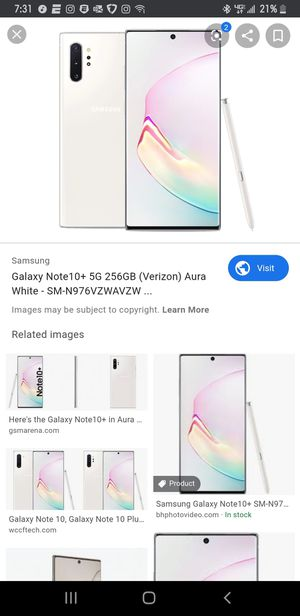 Samsung Note 10 Plus 5G Verizon (Unlocked) for Sale in Cranberry Township, PA