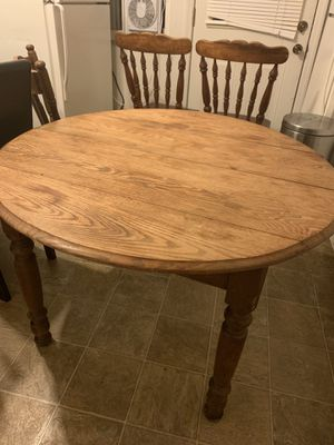Solid wood dining table with 3 chairs for Sale in Columbus, OH