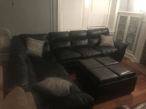 Leather Sectional Couch Sofa w/ Ottoman *FREE DELIVERY* for Sale in Philadelphia, PA