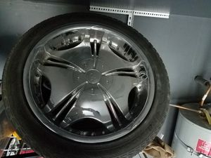 20 inch chrome rims and tires for sale for Sale in West Sacramento, CA
