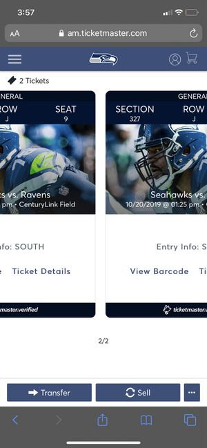 Seahawks ravens tickets for Sale in Tacoma, WA