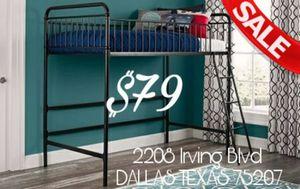 SALE!!! New Twin Junior Loft Bed NO MATTRESS $79 for Sale in Dallas, TX