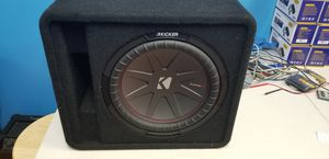 "Kicker 12"" CompR subwoofer with enclosure. 1000 watts. Sub in like new condition for Sale in Philadelphia, PA"