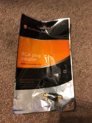 Alphaline RCA Plug Coupler for Sale in Fulton, MO