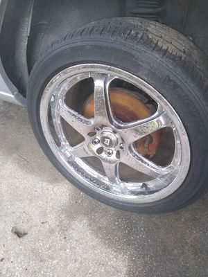 5x100 staggered chrome 18' rims for Sale in Orlando, FL