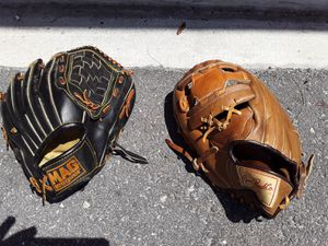 All leather baseball gloves one left one right for Sale in Largo, FL