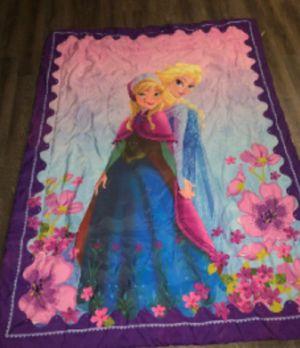 Disney Store Frozen Ana & Elsa Twin Reversable Blanket Comforter for Sale in Las Vegas, NV
