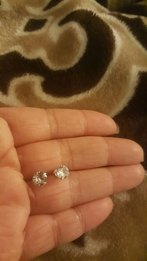 925 sterling silver zircon diamond small stud earrings for men and women for Sale in Riverside, CA