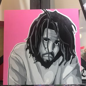 J Cole Acrylic Painting 10x10 Inches for Sale in Santa Monica, CA