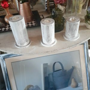 Farmhouse Wooden Candle Holder for Sale in Burlington, NC