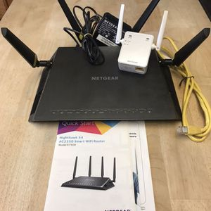 Netgear Nighthawk X4 Router + WiFi Range Extender for Sale in Waymart, PA
