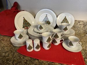 Beautiful 34 pc set of Christmas China! for Sale in Portland, OR