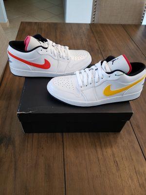 Jordan 1 low white multicolor size 11 for Sale in Miami, FL