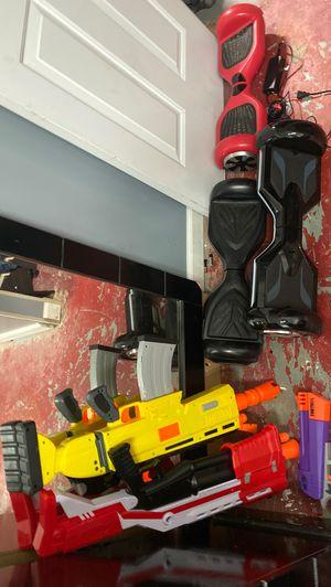 Hoverboard and Fortnite nerf guns for Sale in Jonesboro, GA