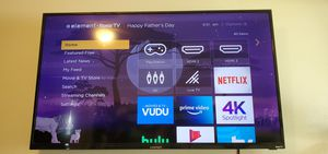 4k roku element 50 inch smart TV. Comes with wall mount for Sale in Mitchell, IL