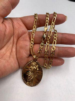 Cadena y dan judas chapado en oro gold plated for Sale in Los Angeles, CA