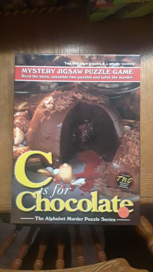 C is for Chocolate - murder puzzle for Sale in Clinton Township, MI