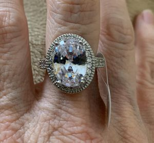 New CZ clear amethyst sterling silver 925 size 8 for Sale in Palatine, IL