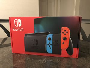 Brand New Nintendo Switch with Neon Blue & Neon Red Joy-Con - IN HAND for Sale in Grand Prairie, TX