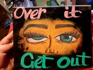 Had painted over it, get out ! Sign earnings go to new art for small business for Sale in San Jose, CA