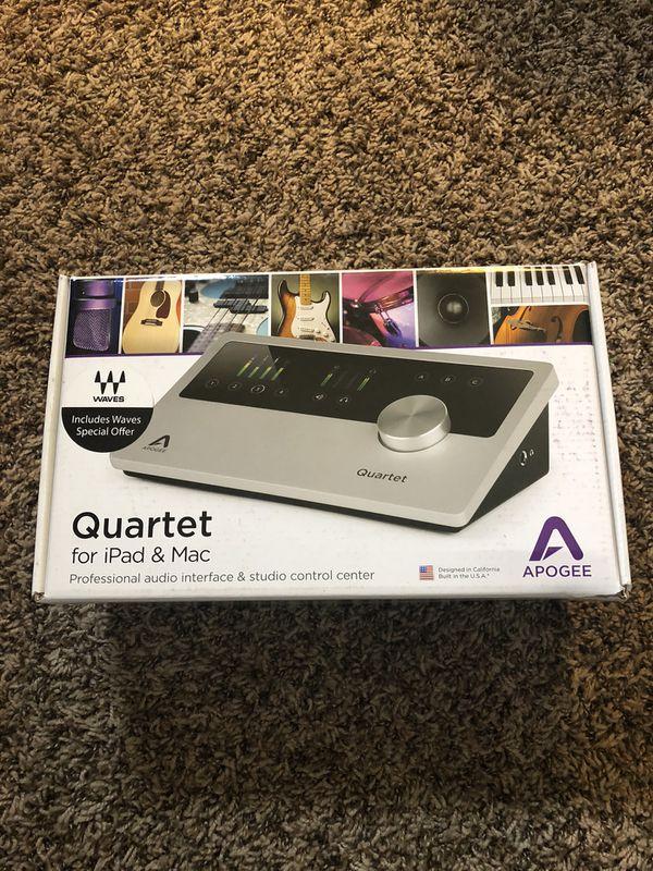 New Apogee Quartet - USB Audio Interface - 4 Inputs with World-Class Apogee Mic Preamp