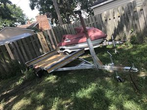Galvanized 16 foot kayak Canoe and sailboat trailer for Sale in Trenton, MI