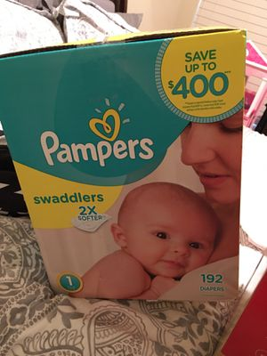 NEW NIB PAMPERS SWADDLERS SIZE 1 192 COUNT *3 BOXES AVAILABLE AT $50 EACH* similar to huggies disposable diapers for Sale in Corinth, TX