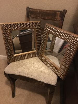 Mirrors home decor. 13.5x13.5 both for 20.00 for Sale in Modesto, CA