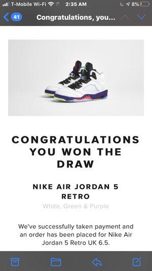 "Air Jordan 5 ""Alternate Bel Air"" Size 7.5 (confirmed order) for Sale in Garden Grove, CA"