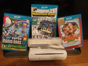 Nintendo wii u and 3 games for Sale in Phoenix, AZ
