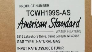 American standard tankless water heater for Sale in New Rochelle, NY