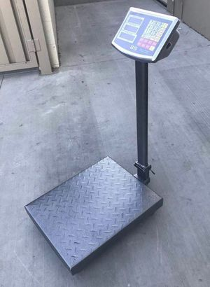 New 660 lbs capacity all metal steel commercial grade platform scale rechargeable weight LB and KG for Sale in Los Angeles, CA