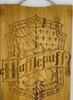 Harry potter hufflepuff laser engraved bamboo high quality cuttingboard pop gift for Sale in Los Angeles,  CA