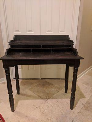 Distressed black secretary desk for Sale in Golden Oak, FL